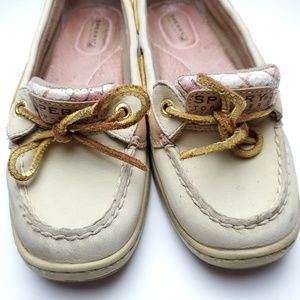 Sperry Top-Sider Angelfish Pink Plaid Boat Shoes